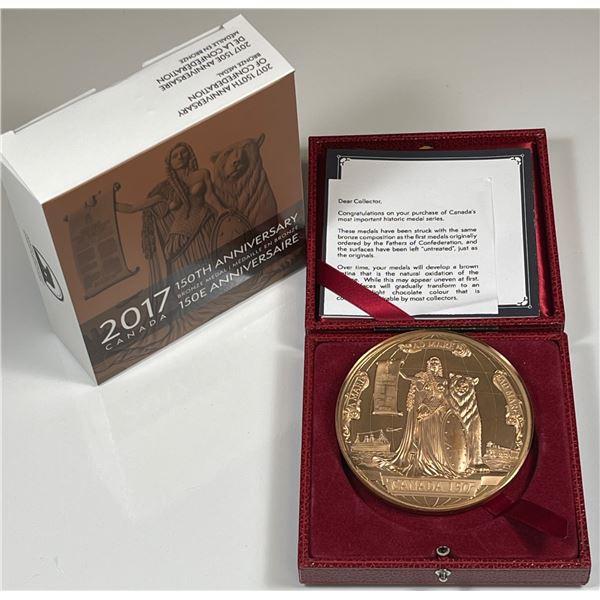 2017 Canada 150th Canadian Confederation Restrike Medal- 10 oz. Bronze