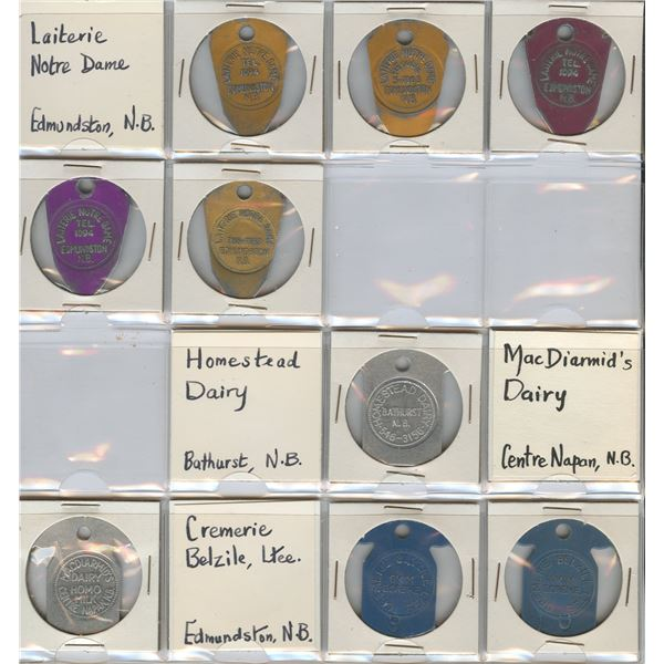 H. Don Allen Collection - New Brunswick Dairy Tokens