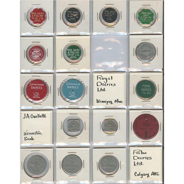 H. Don Allen Collection - Dairy Tokens - Manitoba, Saskatchewan, British Columbia