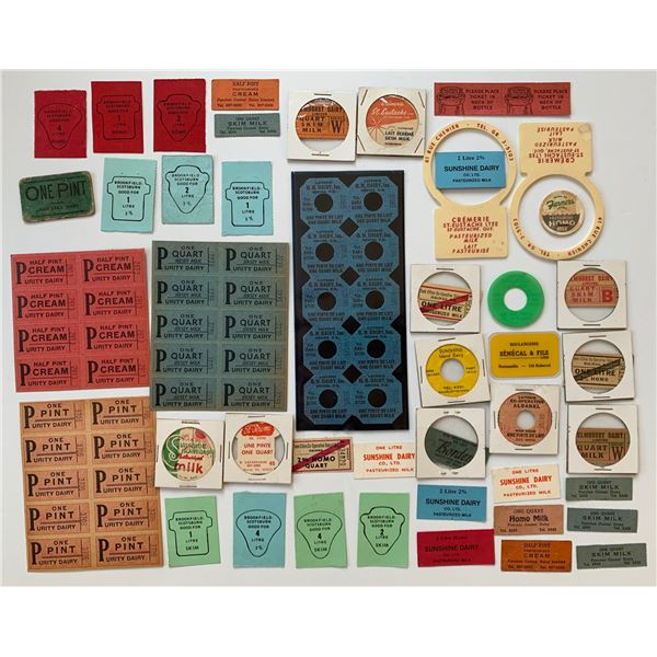 H. Don Allen Collection - Canadian Dairy Paper Tickets