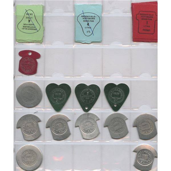 H. Don Allen Collection - Canadian Dairy Tokens