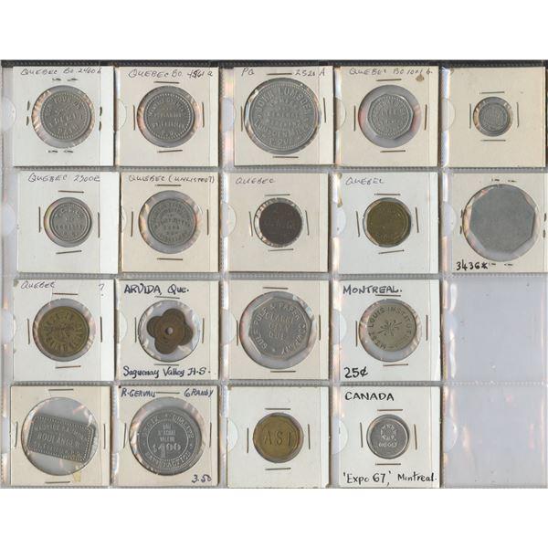 H. Don Allen Collection - Canada - Quebec and Ontario Trade Tokens