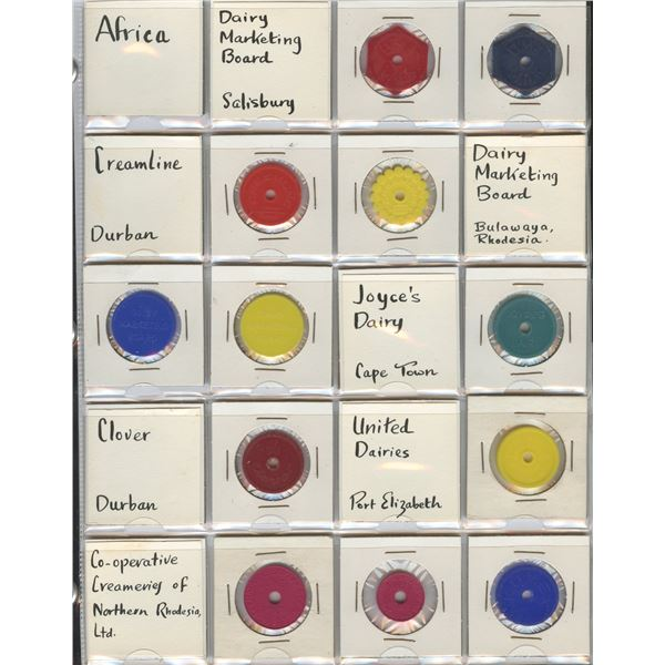 H. Don Allen Collection - Africa and United States Dairy Tokens