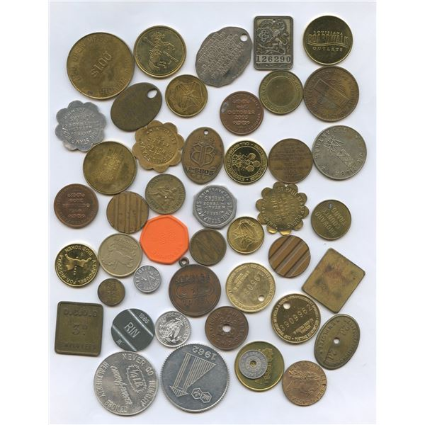H. Don Allen Collection - Large North Americian Token Lot