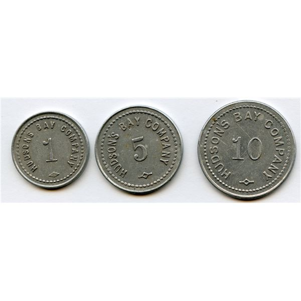 HUDSON'S BAY COMPANY - St. Lawrence-Labrador District tokens - Lot of 3