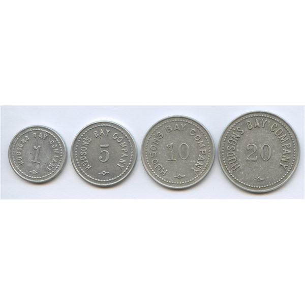 Lot of 4 HUDSON'S BAY COMPANY- St. Lawrence-Labrador District tokens.