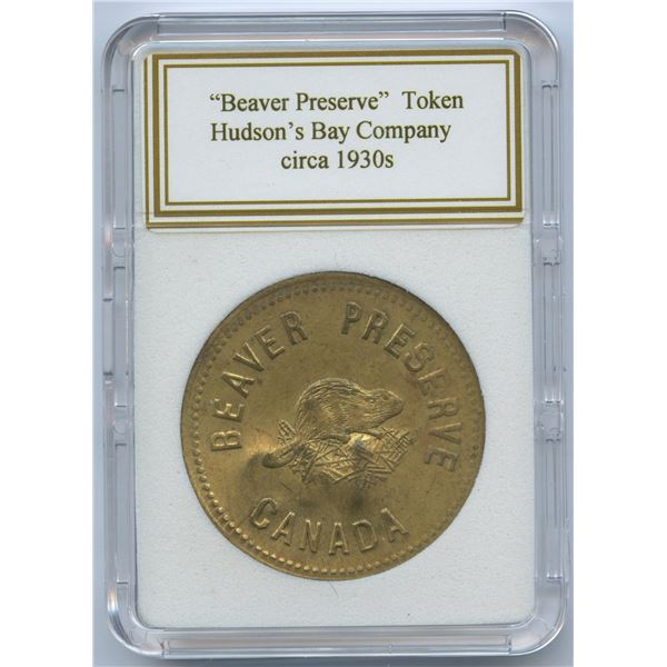 HUDSON'S BAY COMPANY Beaver Preserved Brass