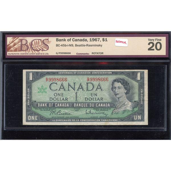 ROTATOR - Bank of Canada $1, 1967
