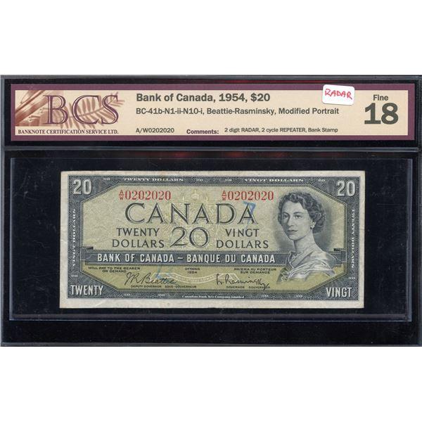 RADAR - Bank of Canada $20, 1954 - Radar Repeater