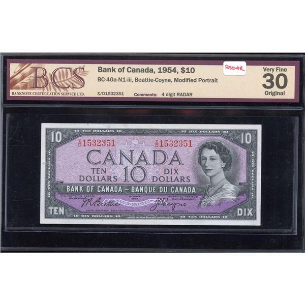 RADAR - Bank of Canada $10, 1954
