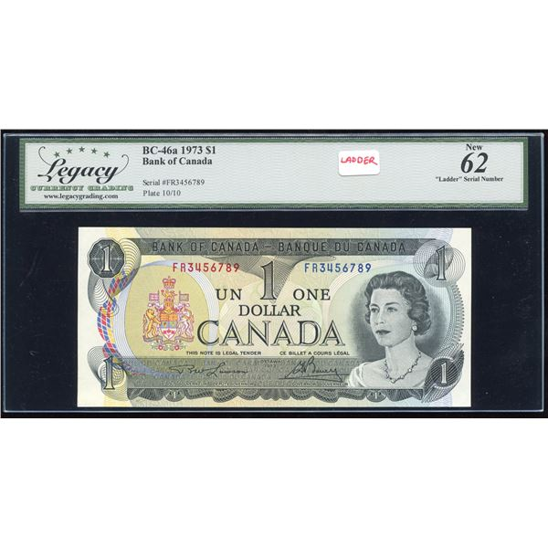 LADDER - Bank of Canada $1, 1973