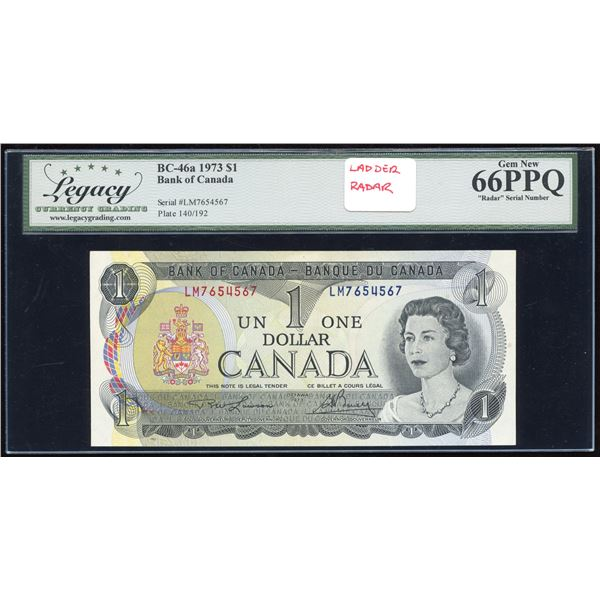 Ladder RADAR - Bank of Canada $1, 1973