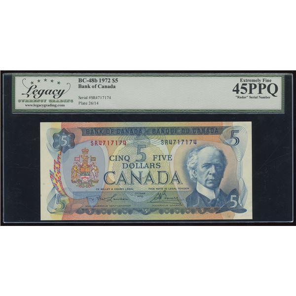 RADAR - Bank of Canada $5, 1972