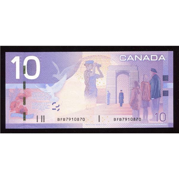 ERROR - Bank of Canada $10, 2005