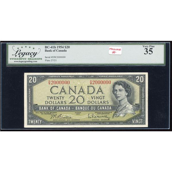 MILLION # - Bank of Canda $20, 1954