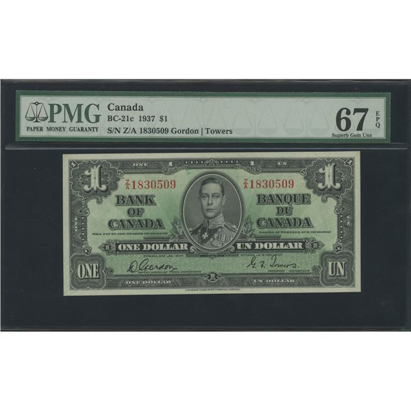 Bank of Canada $1, 1937 - Victoria's Collection