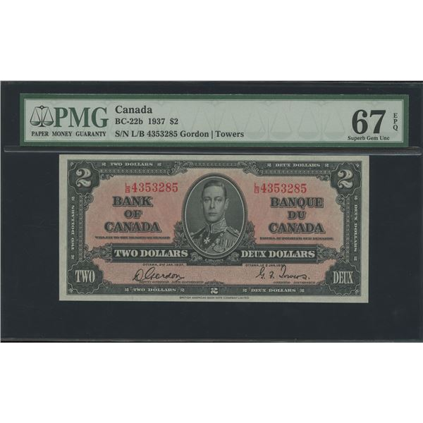 Bank of Canada $2, 1937 - Victoria's Collection