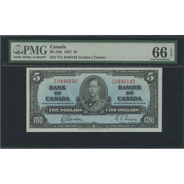 Bank of Canada $5, 1937 - Victoria's Collection