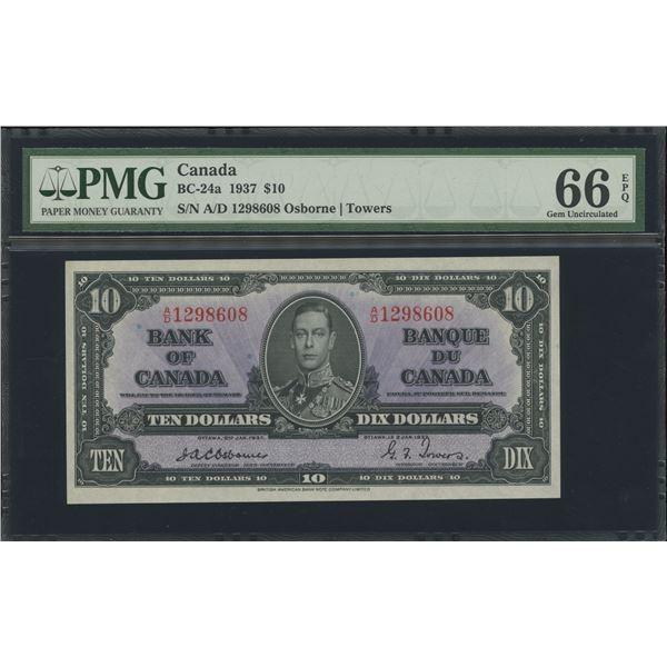 Bank of Canada $10, 1937 - Osborne Signature - Victoria's Collection