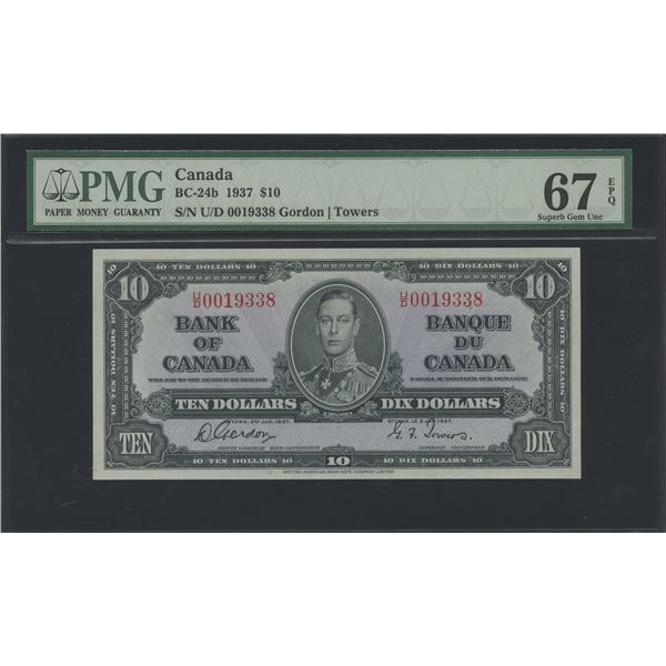 Bank of Canada $10, 1937 - Victoria's Collection
