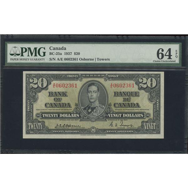Bank of Canada $20, 1937 - Osborne Signature - Victoria's Collection