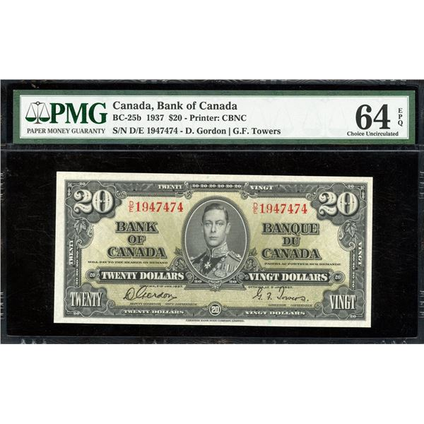 Bank of Canada $20, 1937