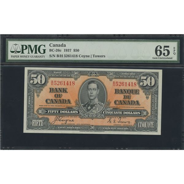 Bank of Canada $50, 1937 - Victoria's Collection