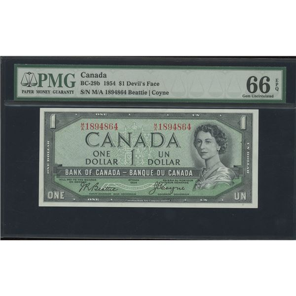 Bank of Canada $1, 1954 Devil's Face - Victoria's Collection