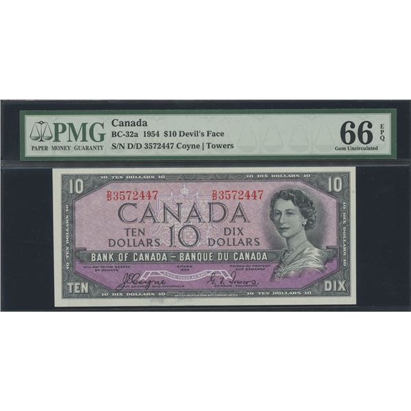 Bank of Canada $10, 1954 Devil's Face - Victoria's Collection