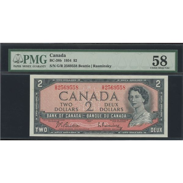 Bank of Canada $2, 1954 Non-Test Note - Victoria's Collection