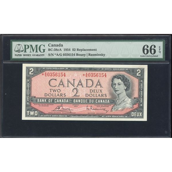 Bank of Canada $2, 1954 - *A/G Replacement