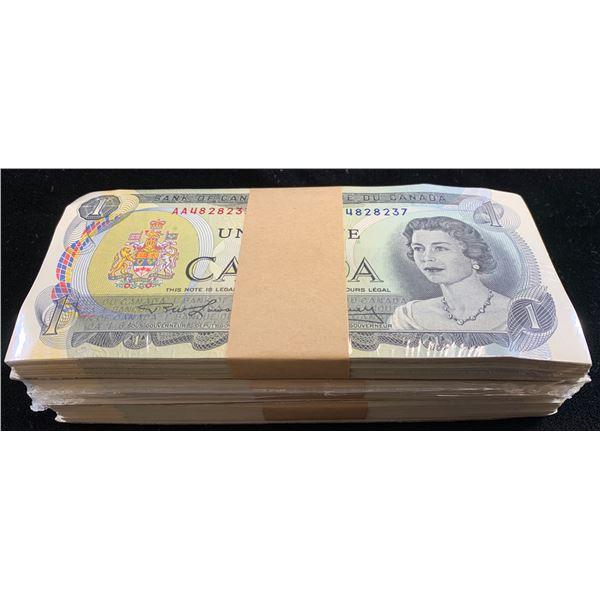 Bank of Canada $1, 1973 Uncirculated Brick