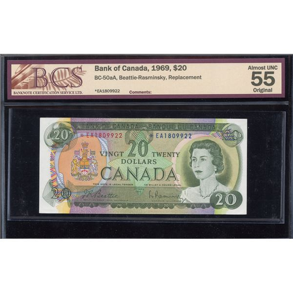 Bank of Canada $20 1969 - *EA Replacement