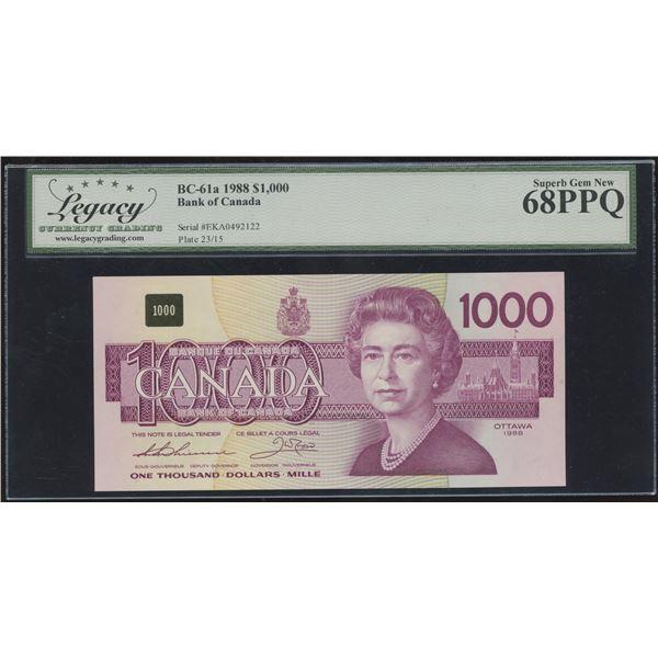 Bank of Canada $1000, 1988 - Condition Rarity