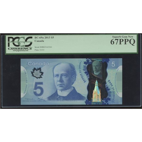 Bank of Canada $5, 2013 Changeover Macklem - Carney Signatures