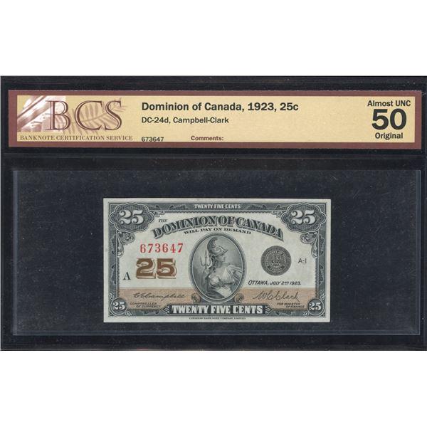 Dominion of Canada Twenty-Five Cents, 1923