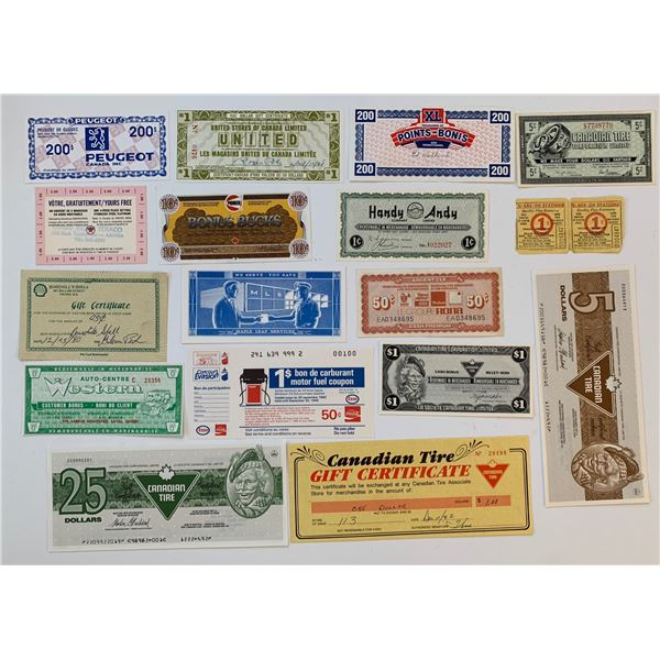 H. Don Allen Collection - Gift Certificates, Coupons, Canadian Tire and other enterprises.