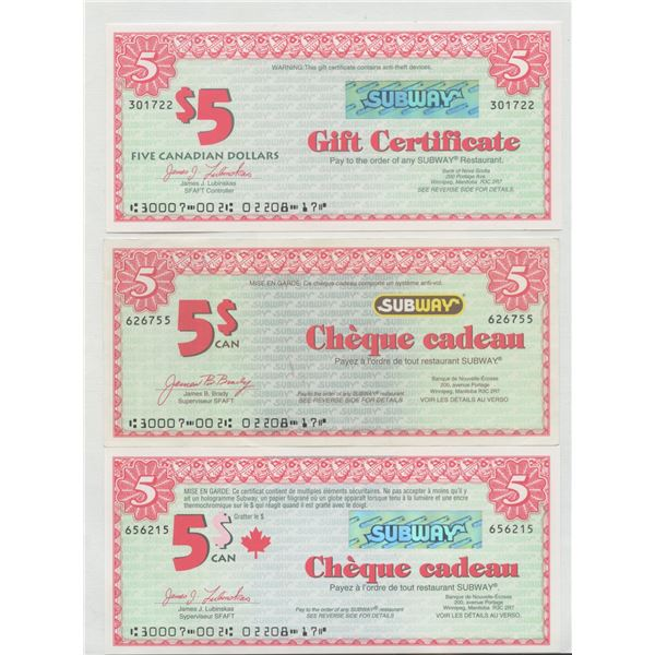 H. Don Allen Collection - Accumulation of Gift Certificates & Cool Taxi Vouchers