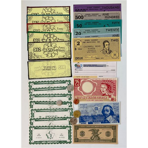 H. Don Allen Collection - School Currency, Traveller's Cheques, Gift Cheques, Money Orders.