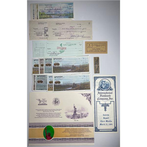 H. Don Allen Collection - Stock certificates e al.