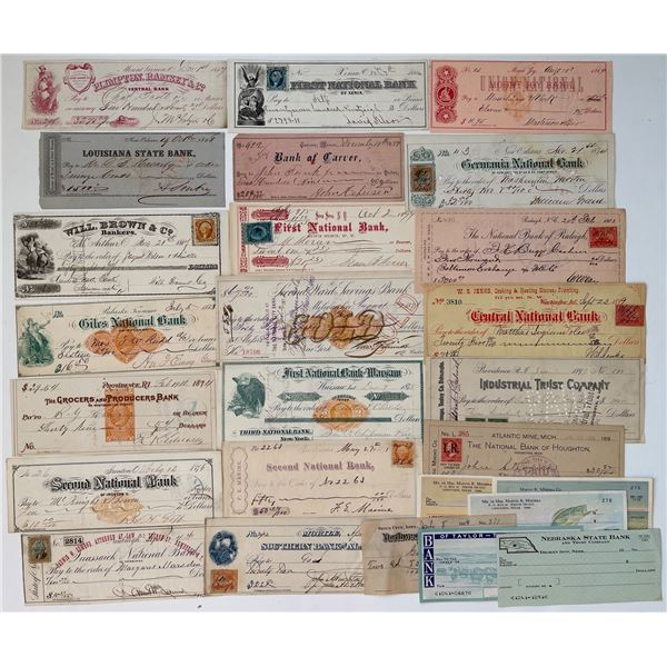 H. Don Allen Collection - Assortment of American Cheques