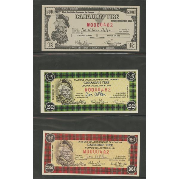 H. Don Allen Collection - Canadian Tire Money