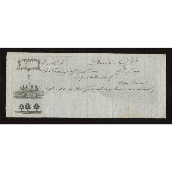 Placentia Newfoundland Bill of Exchange