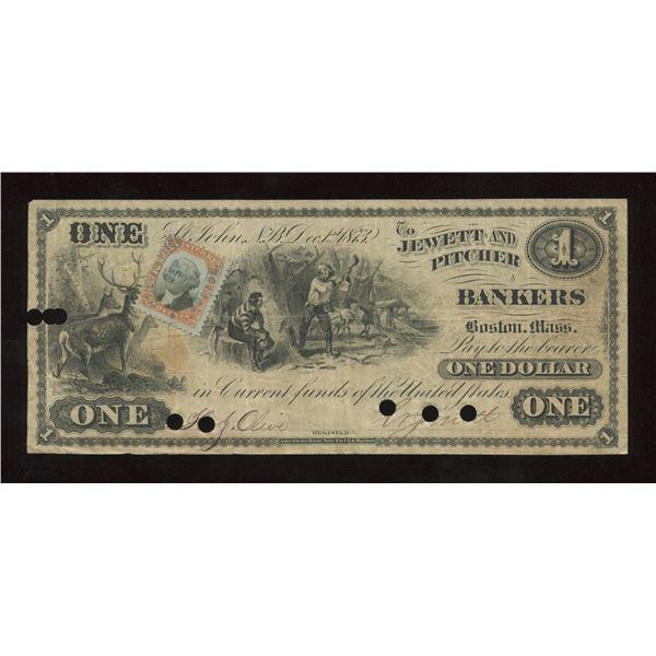 Jewett & Pitcher New Brunswick $1, 1873