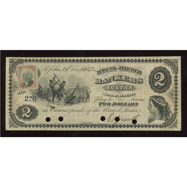 Jewett & Pitcher New Brunswick $2, 1873