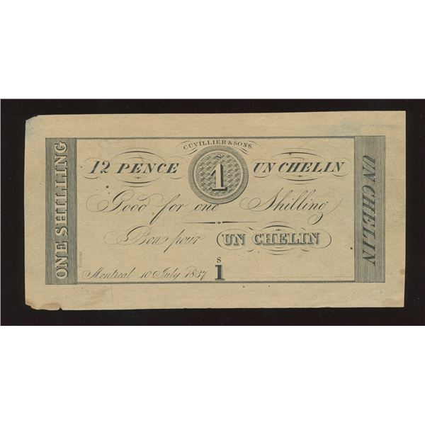 Cuvillier & Sons, Montreal, Lower Canada. 12 Pence - Remainder