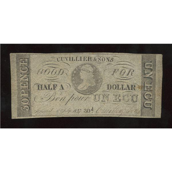 Cuvillier & Sons, 30 Pence, Half A Dollar, UN ECU