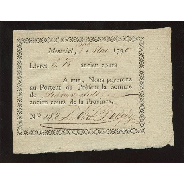 Dobie & Badgely 15 sols, 1790