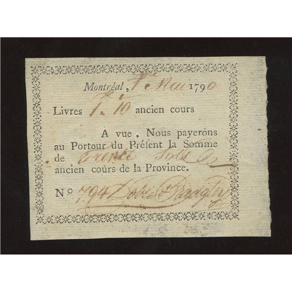 Dobie & Badgely 1 Livre 10 sols, 1790