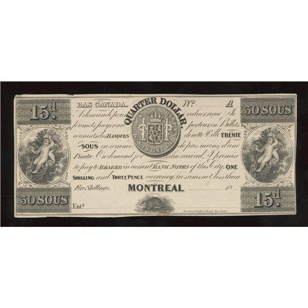John Molson Quarter 30 Sous/3 Francs, Quarter Dollar - Proof